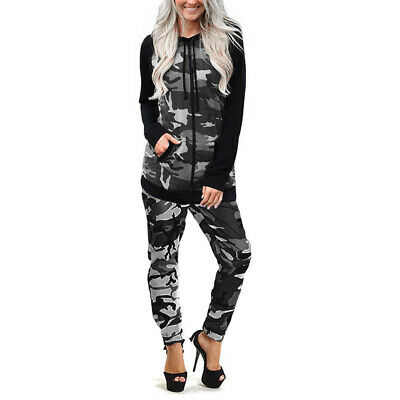 LADIES WOMENS PLUS SIZE CAMOUFLAGE ARMY PRINT TRACKSUITs HOODIEs BOTTOMs 6-28 UK