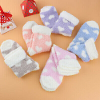 5 Pairs Ladies Heart Warm Bed Cosy Lounge Soft Floor Fluffy Socks Decor Gift