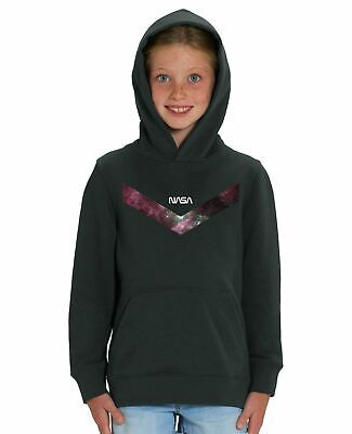 Nasa V Line Children's Unisex Black Hoodie