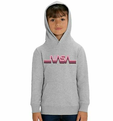 Nasa Pink Logo Children's Unisex Grey Hoodie