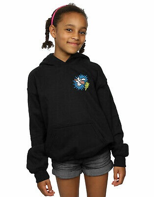 Looney Tunes Girls Bugs Bunny Carrot Breast Print Hoodie