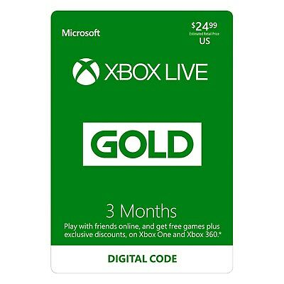 3-Month Xbox Live Gold Membership Digital Redeem Code (Quick Delivery Gurantee)
