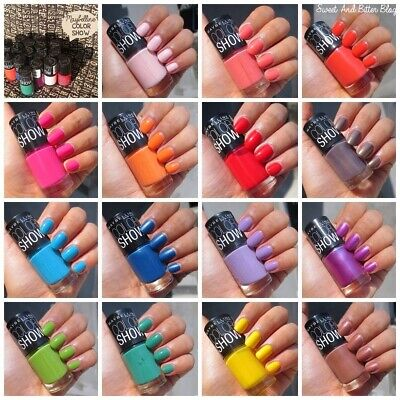 Maybelline Color Show Nail Polish ( Joblot Pack Of 12 Assorted Colours )