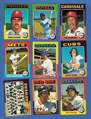 1975 TOPPS MINI  BASEBALL EX to NRMT COMPLETE YOUR SET - U PICK ANY TEN