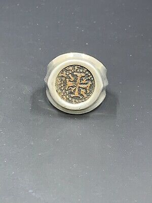 Sterling Silver Ring With Medieval Coin 20.21g Size 11 3/4