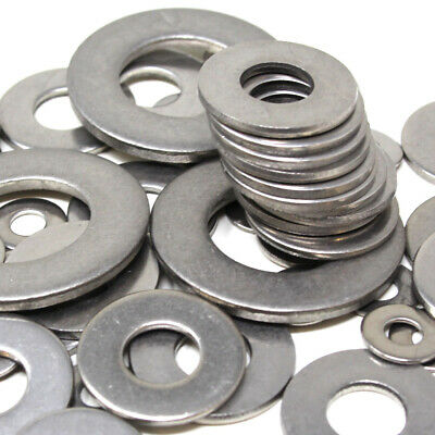 A4 Stainless Steel Marine Grade Form C Flat Washers Wide Large Wider M4 To M24
