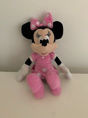 """Disney Minnie Mouse 11 """" Plush Beanbag Doll - Stuffed Toy Authentic Licensed"""