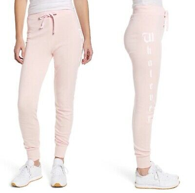 Wildfox Whatever Pink Jogger Pants Size Size XS New With Tag