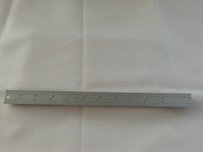 Starrett #C604R-12 Spring-Tempered Steel Rule With Inch Graduations