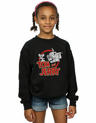 Tom And Jerry Girls Distressed Logo Sweatshirt