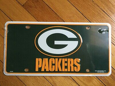 Green Bay Packers Metal License Plate Tag Car Brand New NFL
