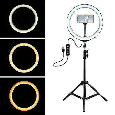 "LED Ring Light 10"" w/Mount Set& Stand For Camera Phone Selfie Video Live Stream"