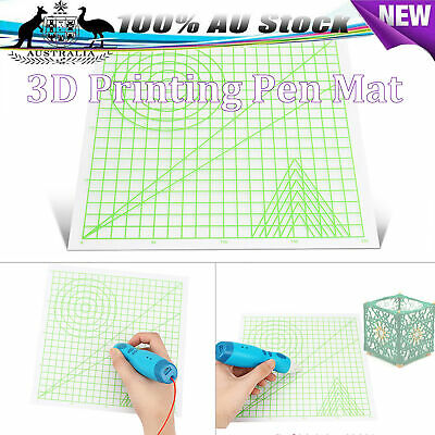 3D Printing Pen Mat Drawing Board with Multi-shaped Basic Template Art Tools AU