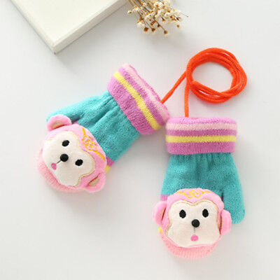 Cute Autumn Winter Baby Gloves Warm Kid Boy Girl Animal Shaped Soft Mitten