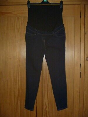 FAB NEXT DARK RINSE SKINNY JEANS,OVER BUMP,SIZE 10 REG,LEG 27in,ONLY WORN ONCE