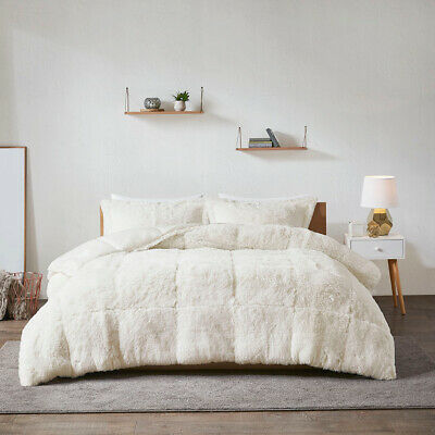 Reversible Soft Silky Faux Fur Mink King Queen Twin XL Comforter Shams Set New