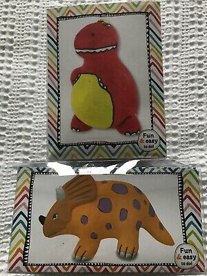 2 X Paint And Decorate Your Own Dinosaur Money Box/ Craft / Hobby / Gift BNIB