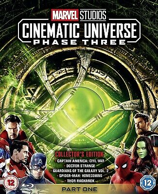Marvel Studios Collectors Edition Box Set - Phase 3 - Part One [Blu-ray] NEW