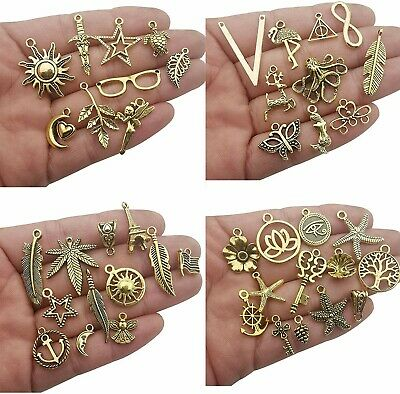 10-100 Vintage Gold Tone Woodlands themed Charm for Craft /& Scrapbooking