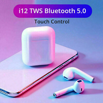 Wireless Air Pods i12 TWS Bluetooth 5.0 Earphones Touch Control Earbuds UK