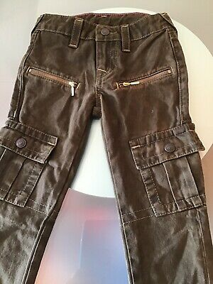 True Religion Girls Casey Single End Cargo Pants Olive Green Size 6 #P14
