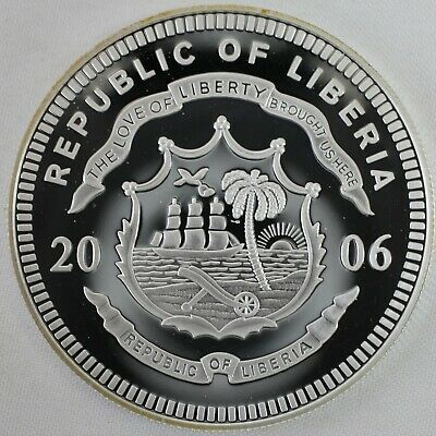 2006 Republic of Liberia Ratification of Constitution Fine Silver $20 Proof Coin