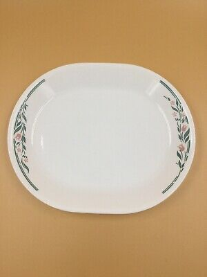 Corelle Oval Serving Platter Pink Trio 12 1//4 inches Corning