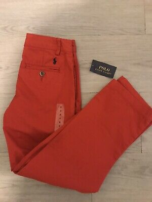 Polo Ralph Lauren Red Trousers Chinos Khakis Pants Boys Children 8