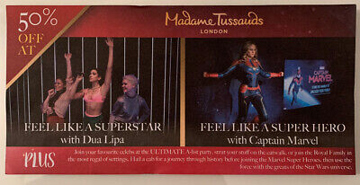Half Price Madame Tussauds Tickets 50% For Up To 4 People!