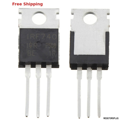 10pcs NEW IRF740 IRF 740 Power MOSFET 10A 400V TO-220 F TOCA OS