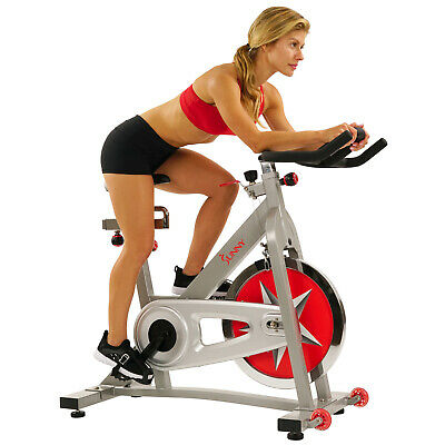 Exercise Bike Indoor Cycle Fitness Chain Drive Workout Heavy Duty Sturdy Adjust