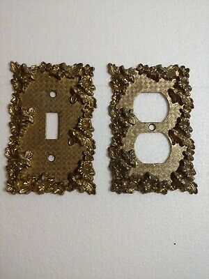 Lot Vtg American Tack and Hdwe.Co wall plates brass 1967-8 75D Outlet 75T light