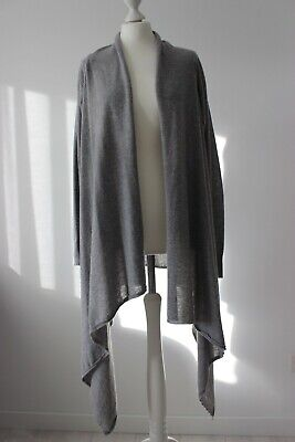 Boss Orange Casual Weste Cardigan Strickjacke  Damen Grau Hellgrau Gr. XL