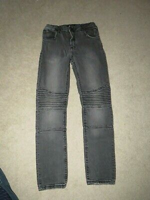 """Boy's River Island Skinny Ribbed Jeans Grey - Size W26"""" L26"""" Freshly laundered"""