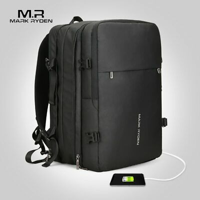 Mark Ryden Man Backpack Fit 17 inch Laptop USB Recharging Multi-layer Space