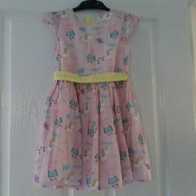 M&S Peppa Pig Girls Age 3-4 Party Dress Pink Magic Unicorn Cotton Full Skirt NEW