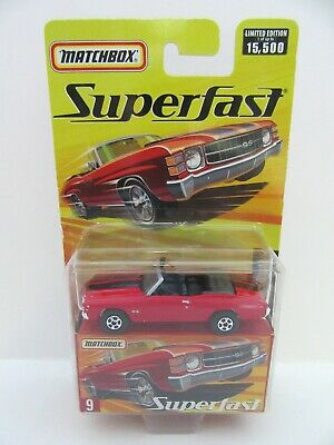 Matchbox Superfast No.9 Chevy Chevelle Convertible - Red - Mint/Boxed