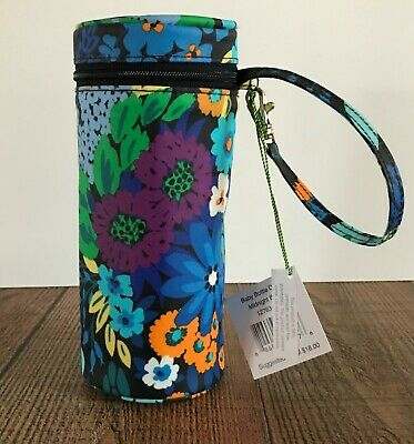 Vera Bradley Midnight Blues insulated baby bottle OR water bottle holder NWT
