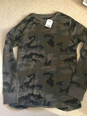Boys Next Green Camouflage Top - Age 14 Years - BNWT