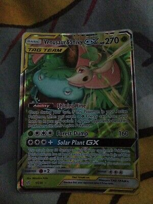 Pokémon Tcg Venusaur And Snivy Tag Team Gx