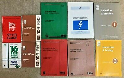 Selection of IEE Wiring Regulations books