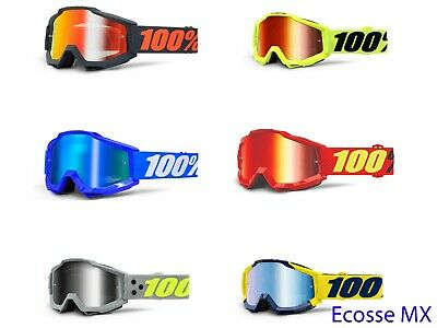 100/% Motocross MTB Brille ACCURI GUNMETAL ENDURO DUAL CLEAR MX DH FR Quad Cross