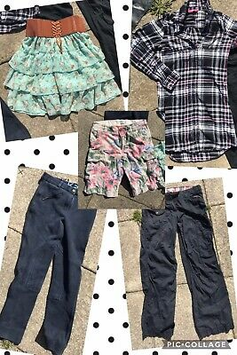 Girls Bundle Of Clothes Skirt Trousers Shorts Top 11-12 Years