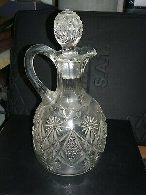 Antique ? Vintage ? Hand Blown Molded Glass Decanter