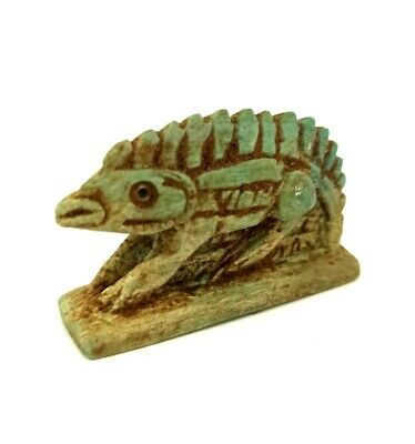 Egyptian Fish Amulet Nile Figurine Ancient Faience Egypt Hieroglyphic Necklace