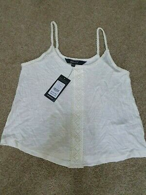 Girls NEW LOOK Ivory White Vest Top Age 12-13 Years Brand New With Tags
