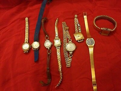 Lot Of Vintage Watches Avia Pulsar Nestor Farina Helsa