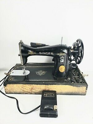 Singer Portable Electric Sewing Machine 1937 Vintage Antique. Fully Tested