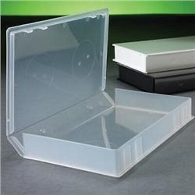 50 Clear Vhs Video Library Case W/Full Sleeve, Hubless, Psv14