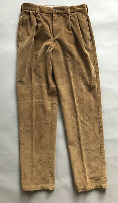 Brooks Brothers Boys Corduroy Pants 20H Beige Light Brown Cotton Pleated